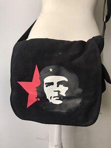 Che Guevara Crossbody Bucket Bag Courier Messenger Bag Revolutionary Boho Hippie