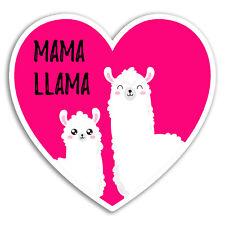 2 x 10cm Mama Llama Vinyl Stickers - Mum Cute Love Heart Sticker Laptop #18088