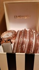 Embassy Woman's Watch Gray Band & Several Bracelet Combo New Style #1