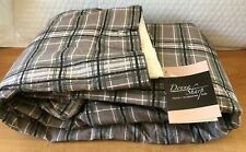 Donna Sharp Bed Skirt King Size NWT Gray, green white black plaid 78x80x18