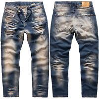 Rock Creek Herren Jeans Hose Regular Fit Herrenjeans Laser-Effekt RC-3102 NEU