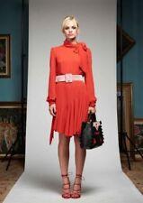 DENNY ROSE abito fiocco collo 40 XS 42 S rosso viola vestito 721dd10031 maglia