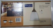 Progress Lighting Renovations Collection Mini-Pendant with Etched Glass New