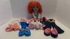 Build a Bear Friends 2B Made Lot Red Hair Doll with 4 Outfits