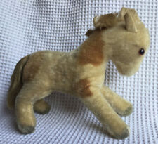 Steiff Mohair Pony Vintage  Classic German Stuffed Animal Toy Pony Equestrian