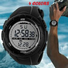 MHM128 Rubber Stop Date LCD Digital Sport Wrist Watch Men's Waterproof