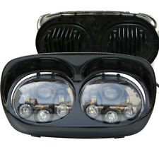 Dual LED Headlight 90W Hi/Lo Beam Assembly For Harley-Davidson Road Glide