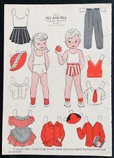 1952, Jill & Bill Mag. Paper Dolls, Wee Wisdom Mag., Dorothy Wagstaff Artist