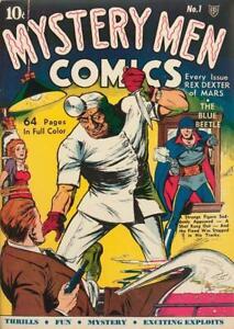 Mystery Men Comics #1 Photocopy Comic Book, Blue Beetle