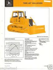 Equipment Brochure - John Deere - 750B - Lgp Bulldozer - c1985 (E2101)
