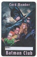 France - No Phonecard - Carte de membre Club Batman - Sans Nom