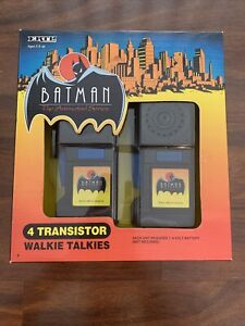 ERTL BATMAN THE ANIMATED SERIES 4 TRANSISTOR WALKIE TALKIES 1993 NIB