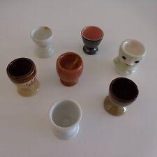 7 coquetiers en céramique faïence porcelaine