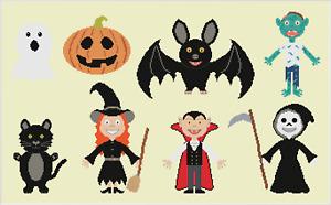 Halloween Cross Stitch Pattern by Meloca Designs
