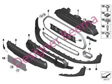 Mini F55 F56 F57 Kit de Cooper S JCW AERO Parachoques Delantero Spoiler de banda lateral (JS)