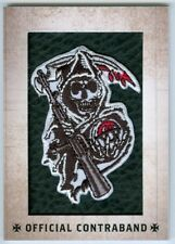 """REAPER """"OFFICIAL CONTRABAND REPLICA PATCH CARD RP03"""" SONS OF ANARCHY SEASONS 1-3"""