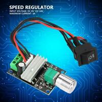 DC 6/12/24V 3A PWM Motor Reversible Speed  Controller Regulator with Switch New