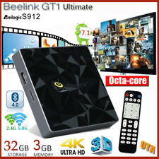 Beelink GT1 Android7.1 8Core 3+32Go 4K Dual WIFI Smart TV BOX Lecteur Multimédia