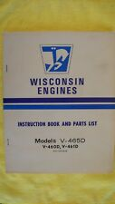 Wisconsin Engines Instruction Book .