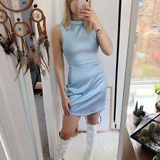 Mini vestido Azul De Bebé de raso estilo años 60