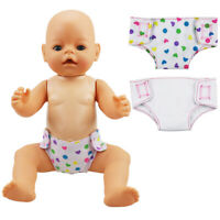 "2pcs/set  Doll Diaper 18"" Doll Baby Underpants Cute Clothes Doll Accessory Toy"