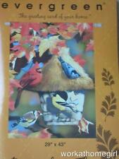 Nwt/Autumn Birds Gathering Large House Flag/29 x 43/Brand New/Colorful/Fall/Look