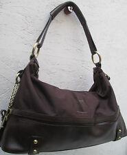 -AUTHENTIQUE sac à main FERRE  cuir et toile TBEG vintage bag