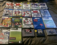 Mixed video game lot of 20 untested xbox,xbox360,gamecube,ps2,ps4,snes,n64,genes