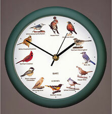 "WALL CLOCKS - SINGING BIRDS WALL CLOCK - 8"" DIAMETER"