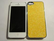 Gold / Yellow Glitter iPhone SE 5S 5G 5 DIAMOND BLING Designer Full Back Case