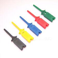 New 50 PCS Test Clip Mini Grabber SMD IC Hook Probe Jumper 5 Color P07