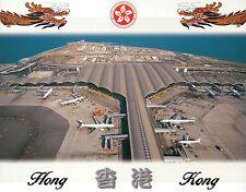 Chek Lap Kok International Airport, Hong Kong, China, Planes, Aerial -- Postcard
