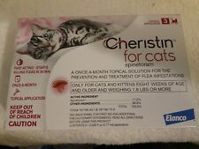 Cheristin for Cats Topical Flea, starts killing fleas in 30 minutes, 3 Doses