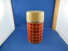 Vintage Thermos  Red, Yellow & Black Wide Mouth Vacuum Bottle