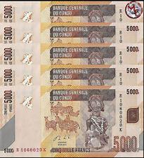 Congo - 5000 Francs 2013 - Pick- 102b - Set 5 PCS - UNC
