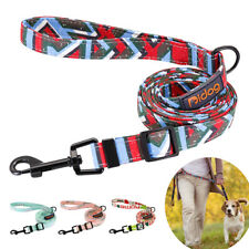 Print 4ft to 6ft Adjustable Dog Leashes for Medium Dogs Nylon Rope Walking Leads
