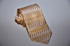 Lorenzo Cana 100% Silk Satin Neck Tie abstract Yellow and Orange Colors