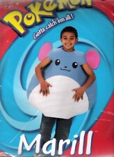 Pokemon Marill Halloween Costume New in Package Size 4-6 or 7-10