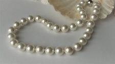 Design Muschelkernperlen Statement Halskette Kette Collier Weiß 12mm