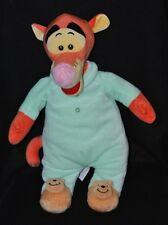 Peluche doudou tigrou DISNEY NICOTOY pyjama vert chaussons winnie 48 cm TTBE