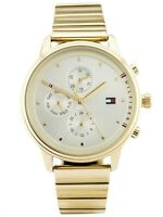 Tommy Hilfiger Women's Watch Gold Dial Gold Bracelet Stainless Steel 1781905