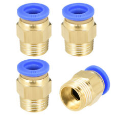 "4 Pcs 3/8"" G Male Straight Thread 10mm Push In Joint Pneumatic Quick Fittings"