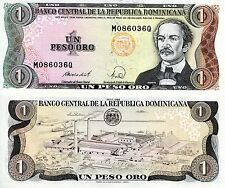 DOMINICAN REPUBLIC 1 Peso Banknote World Paper Money UNC Currency Pick p-126c