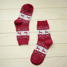 Women Winter Socks Christmas Warm Wool Sock Cute Snowflake Deer Comfortable New