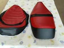 HONDA CH250 ELITE 250 1985 TO1988 MODEL SEAT COVER RED AND BLACK (H175)