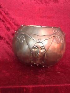 "Vintage Reproduction ERTE ""Fruit of Life"" Large Bronze Bowl; Signed no# no base"