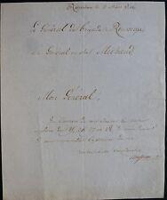 Général Antoine ROUSSEAUX autographe / Rotterdam 1806