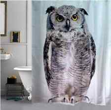 Owl Animal Modern Stylish Kids Waterproof Bath Drape Hooks Shower Curtains DIY