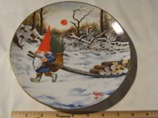 Rien Poortvliet Collector Plate Gnome Four Seasons Keep The Gnome Fires Burning.