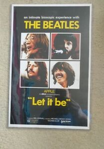 """The Beatles, Let It Be,Movie Poster Replica 11""""x 17"""" Photo Print. Plastic sleeve"""
